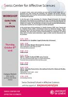 "Workshop ""Olfaction & Emotion"""