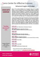 Graduate Seminar - Behavioral Insights and Nudges