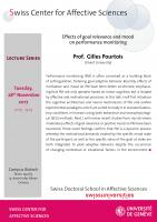 Talk Gilles Pourtois (Lecture series)