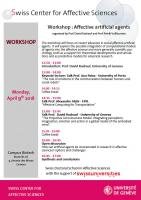Workshop : Affective artificial agents as models for affective science and psychology - April 9th