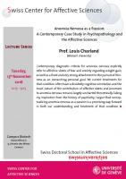 Talk Prof. Louis Charland (Lecture series)