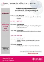 "Workshop ""Cultivating negative emotions: The virtues of anxiety and disgust"""
