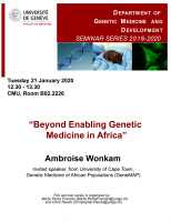 Beyond Enabling Genetic Medicine in Africa