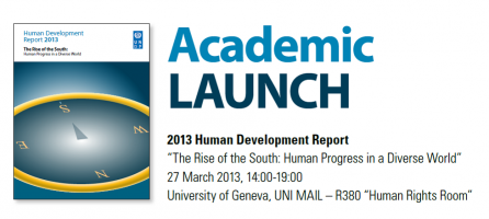 ACADEMIC LAUNCH HUMAN DEVELOPMENT REPORT 2013